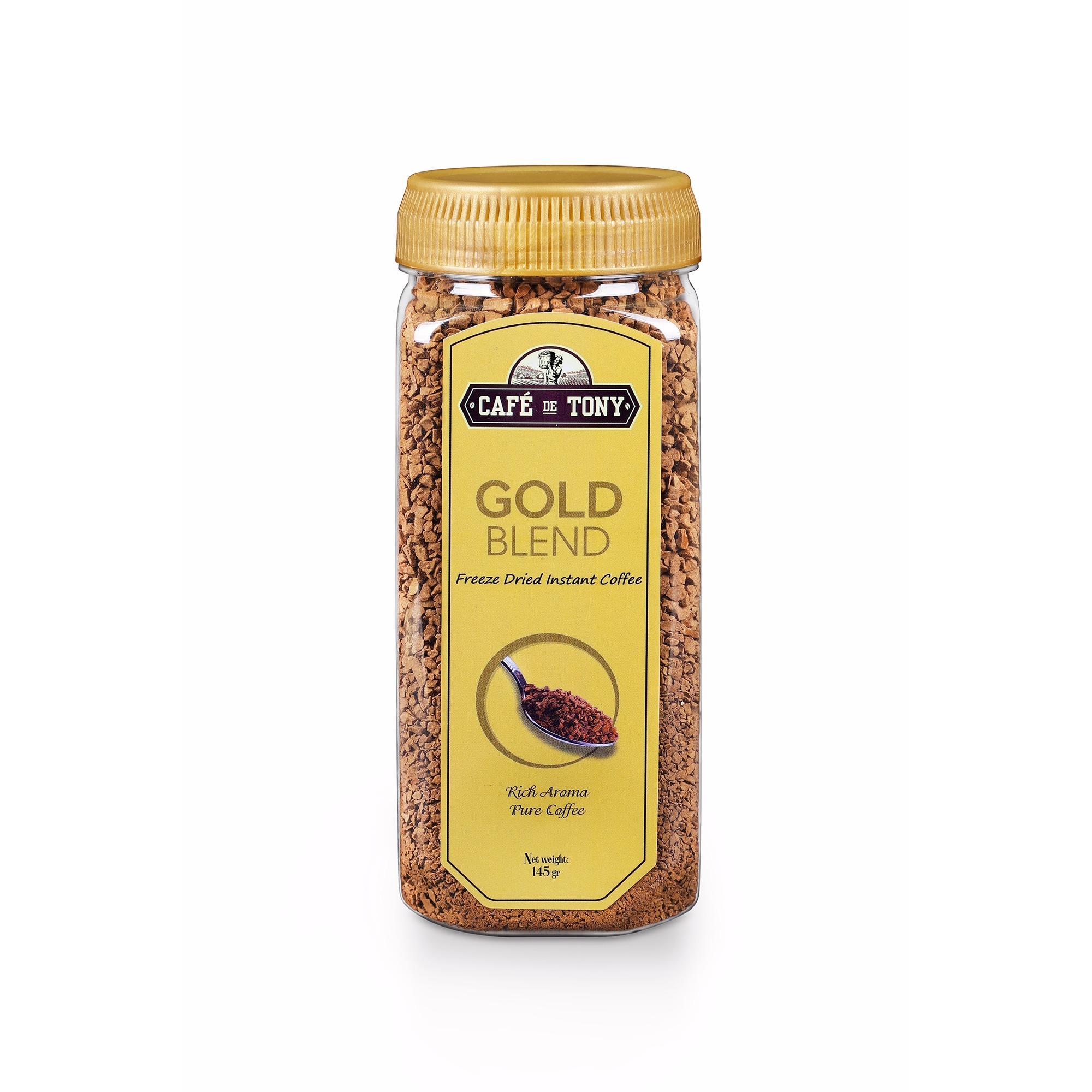 Cà Phê Hòa Tan Sấy lạnh Nguyên Chất 100% - Cafe De Tony Gold Blend - Hũ 145 gam