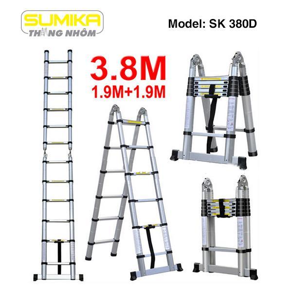 Thang nhôm rút đôi Sumika SK380D - 3.8m