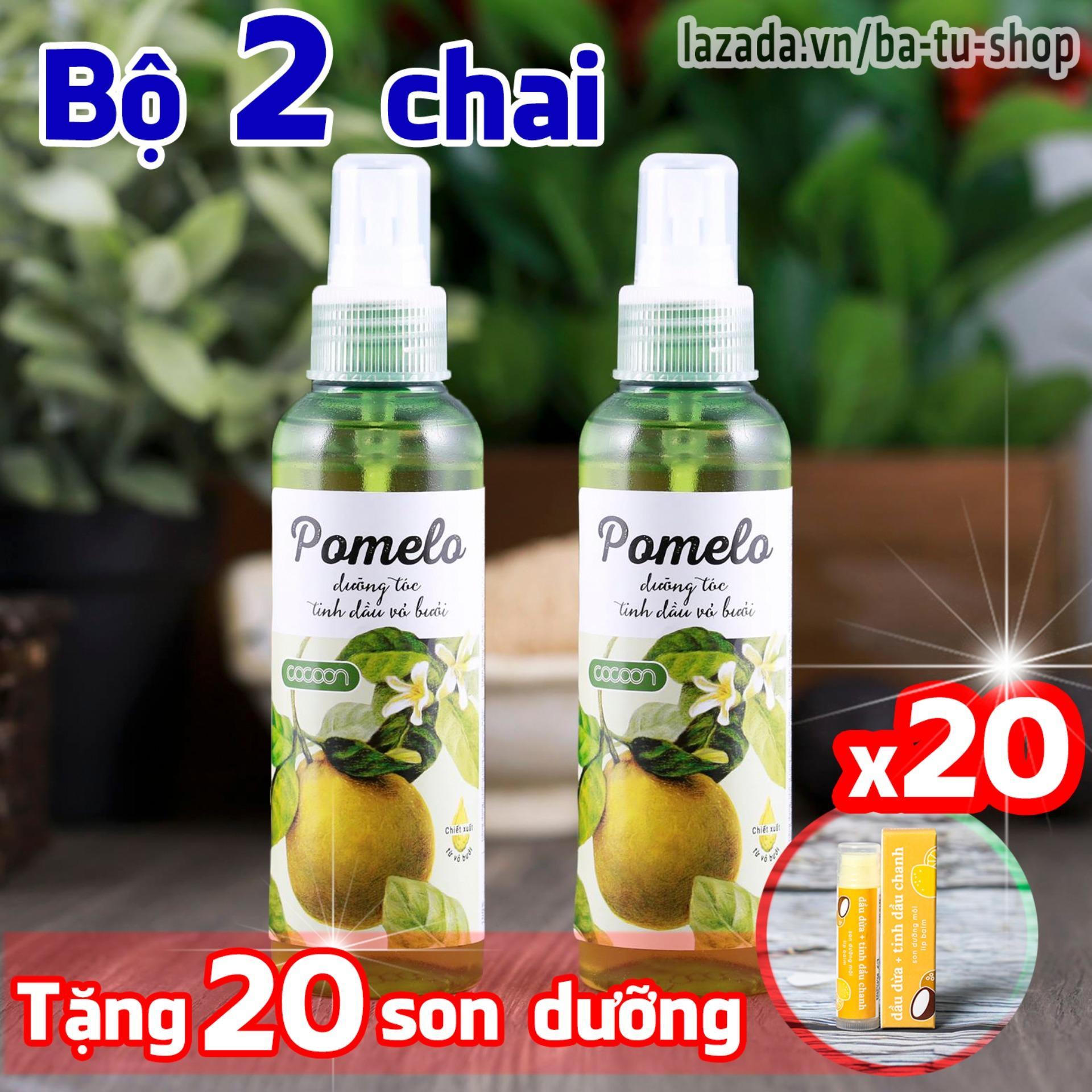 Hình ảnh Bộ 2 chai xịt bưởi dưỡng tóc Pomelo Cocoon tặng 20 son dưỡng môi Lip Care