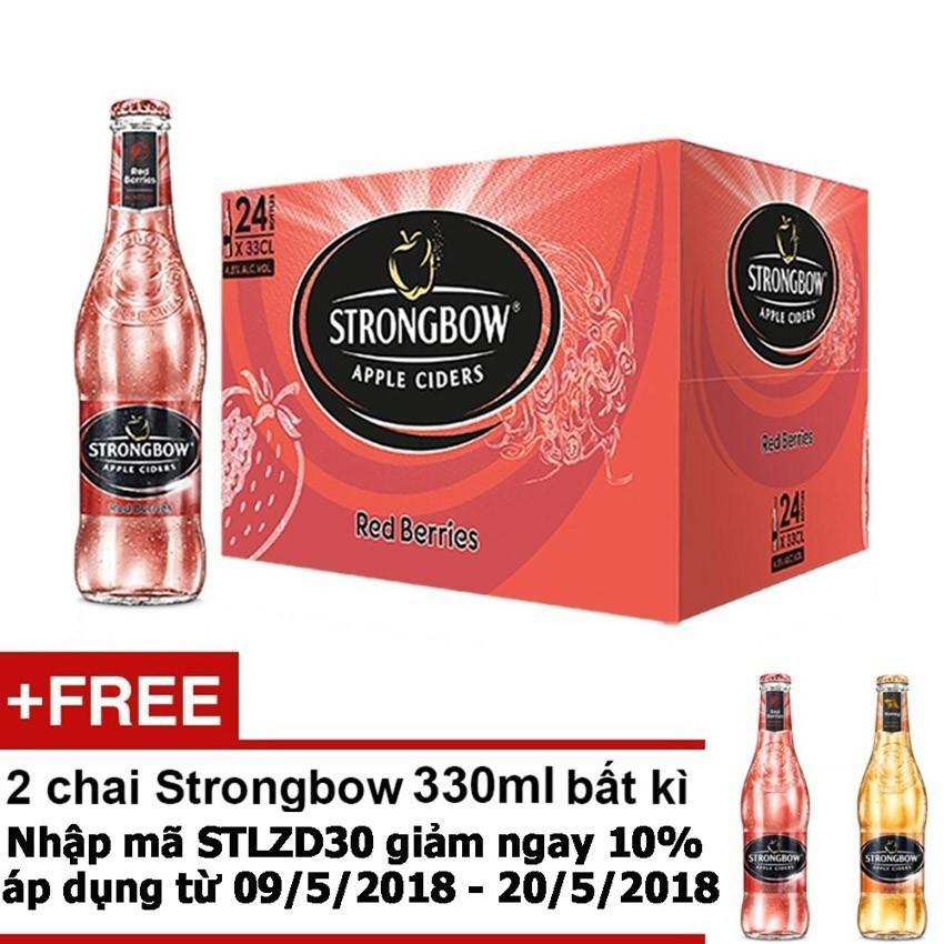 Bán Thung 24 Chai Strongbow Red Berries Vị Dau Đỏ 330Ml Tặng 2 Chai Strongbow 300Ml Bất Ki Có Thương Hiệu