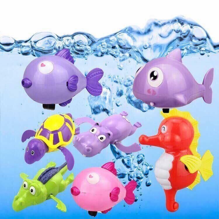 Deal Ưu Đãi Bộ 5 Thú Bơi Trong Nước Vặn Dây Cót Cho Bé