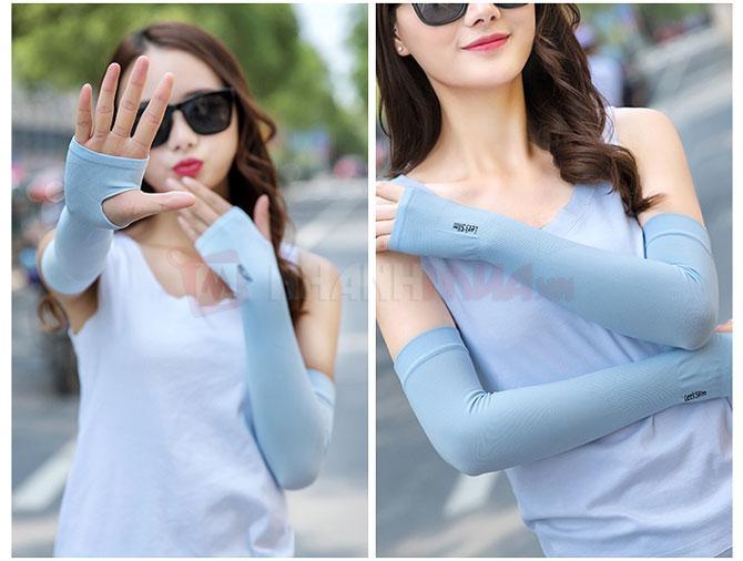 Bộ Ống tay chống nắng xỏ ngón korea
