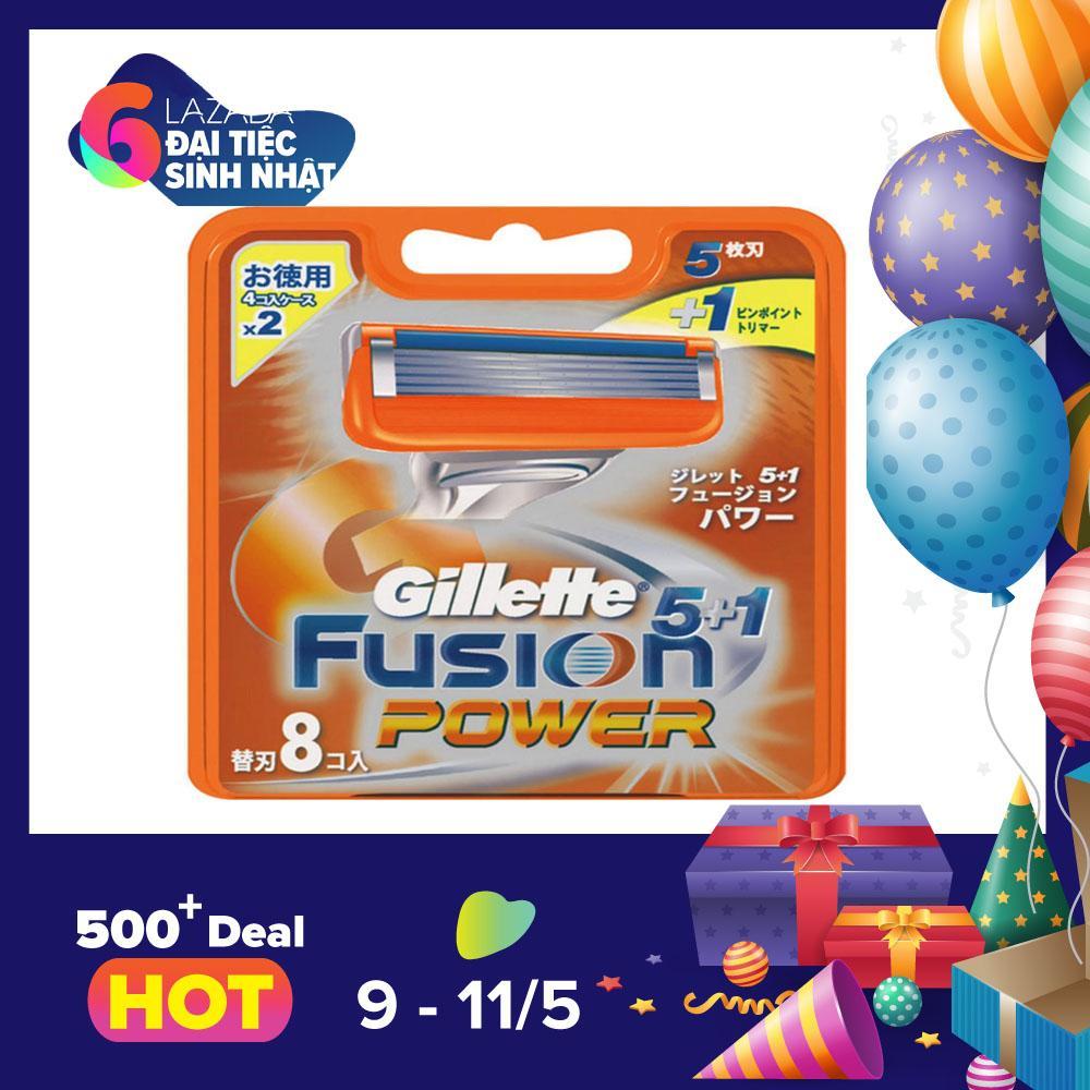 Bán Vỉ 8 Lưỡi Dao Cạo Rau Gillette Fusion 5 1
