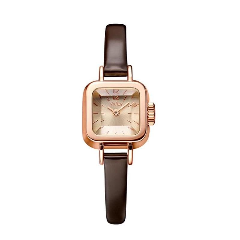 Sale Off Đồng hồ nữ Julius Hàn Quốc JA-496C dây da (Nâu)