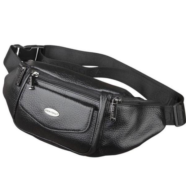 Túi đeo bụng da bò cao cấp dáng thể thao