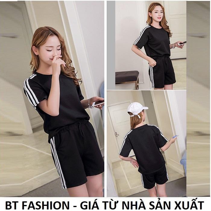 Giá bán Đồ Bộ Áo Thun Nữ + Quần Đùi Sọt Thun Nữ Thể Thao, Ở Nhà, Đồ Ngủ Thời Trang Hàn Quốc Mới - BT Fashion (ĐBTE01A-3S)