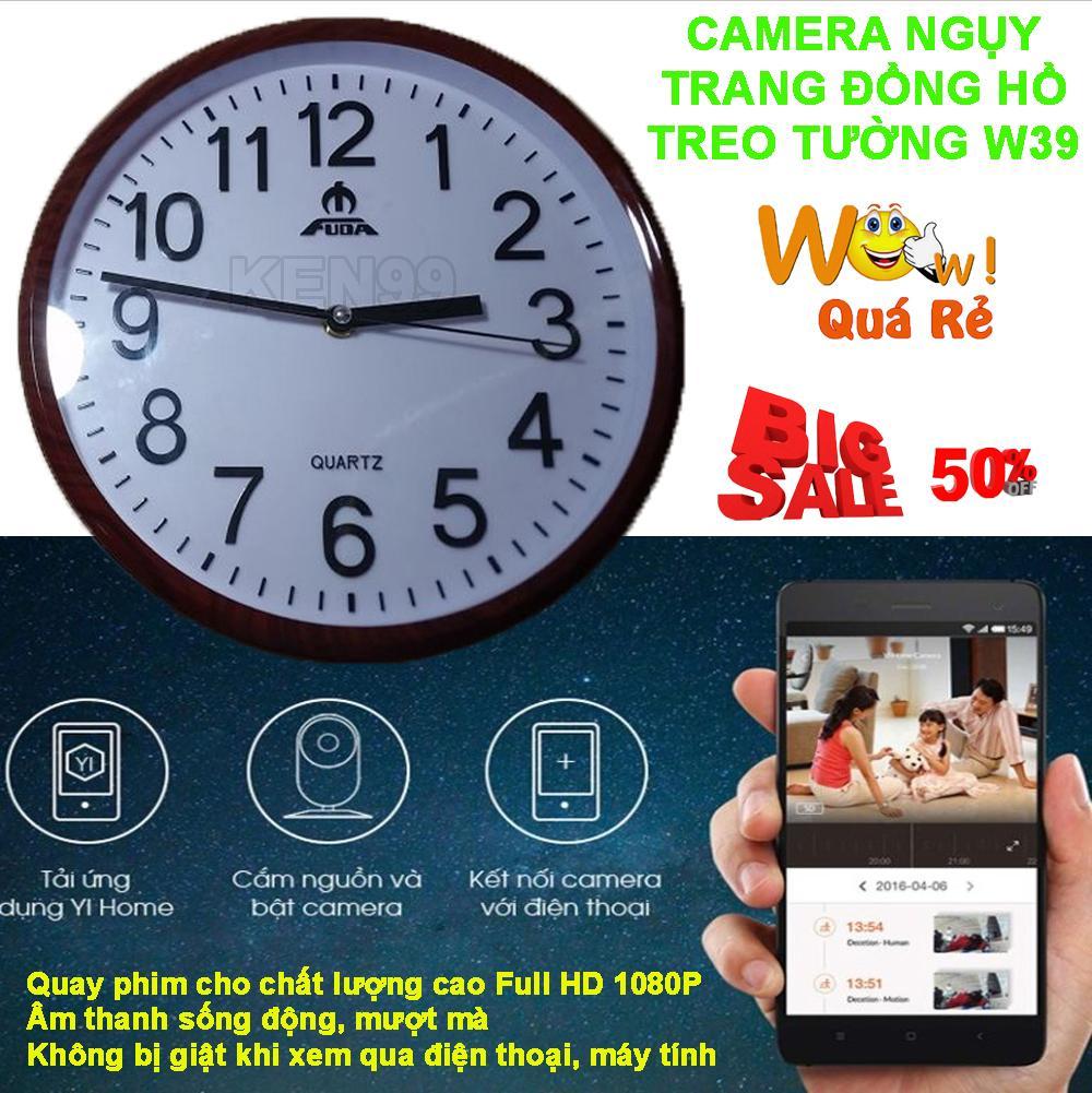 Hình ảnh Camera Nguy Trang Sua, Camera Kiêm Đồng Hồ Treo Tường W39-154 Full HD 1080, Camera Cực Nét | Wifi Xem Từ Xa Rất Tiện Lợi, Sale 50%, BẢO HÀNH 1 ĐỔI 1