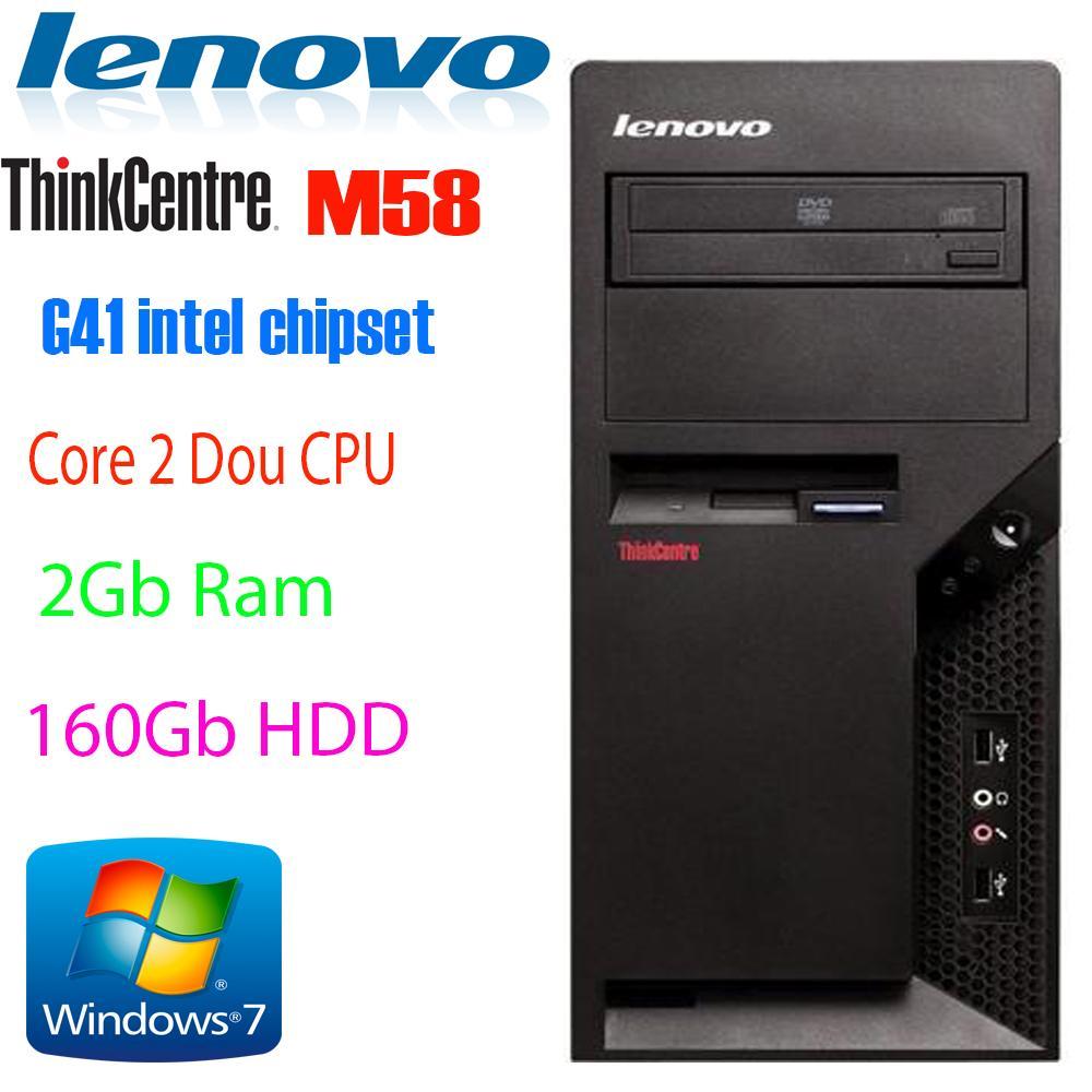 Hình ảnh Máy tính đồng bộ LENOVO Thinkcentre M58P - Intel Dual-Core/ 2Gb ram/ 160Gb HDD Windows 7