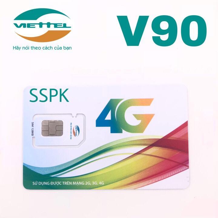 Hình ảnh Sim 4G Viettel V90 miễn phí gọi nội mạng, 60gb 4G, 50 phút ngoại mạng- V90 simsophukien