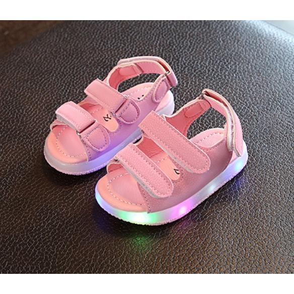 Hình ảnh Dép sandal quai ngang bé gái có đèn 1-7 tuổi