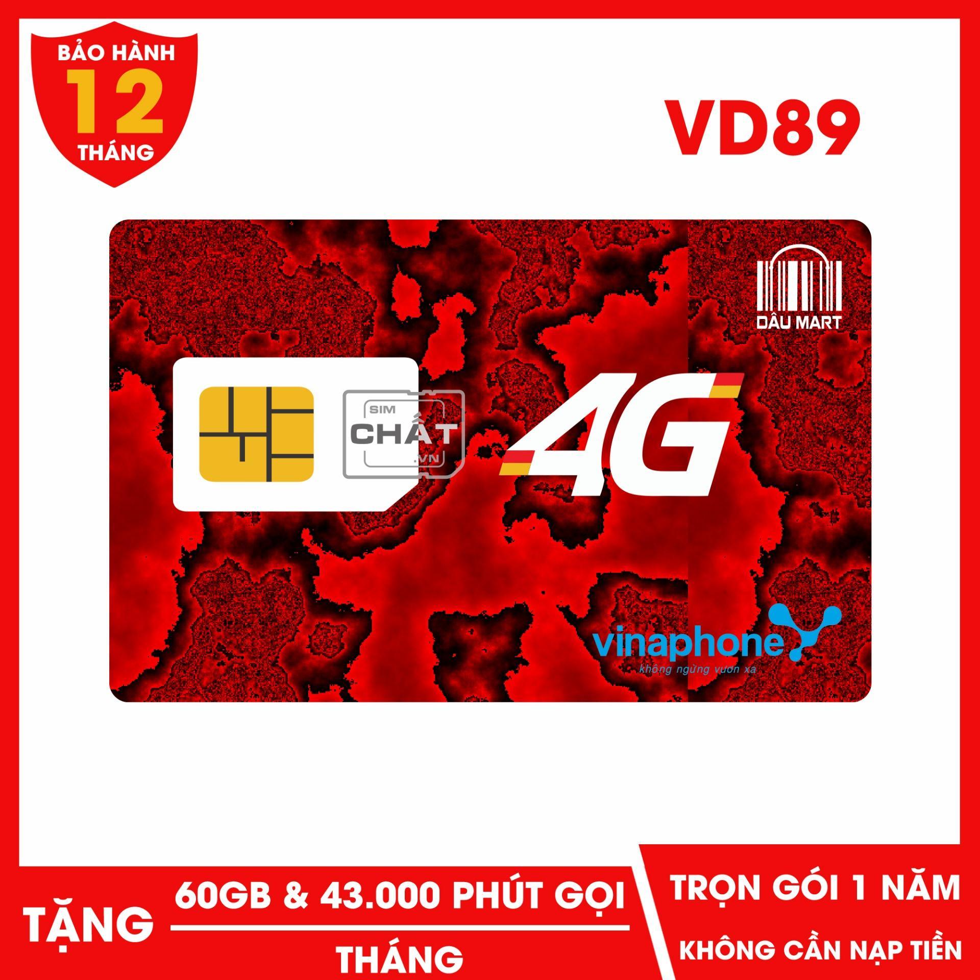 Giá SIM 4G Vinaphone VD89 Miễn Phí DATA và Nghe Gọi 1 Năm Không Cần Nạp Tiền