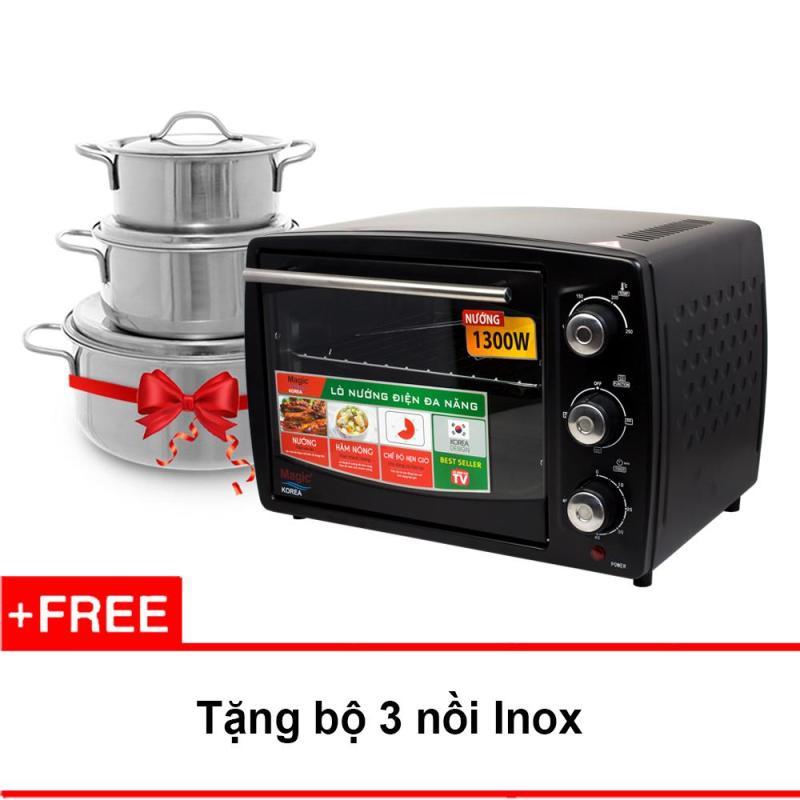 Bảng giá Lò nướng điện đa năng Magic Korea A62 + Tặng bộ 3 nồi inox Điện máy Pico