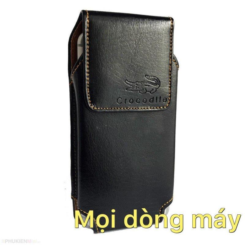 Giá Bao da túi đeo hông thắt lưng loại đứng cho điện thoại 5 inch, 5.2 inch, 5.5 inch, 6 inch, 6.5 inch màu nâu và đen Mọi dòng máy