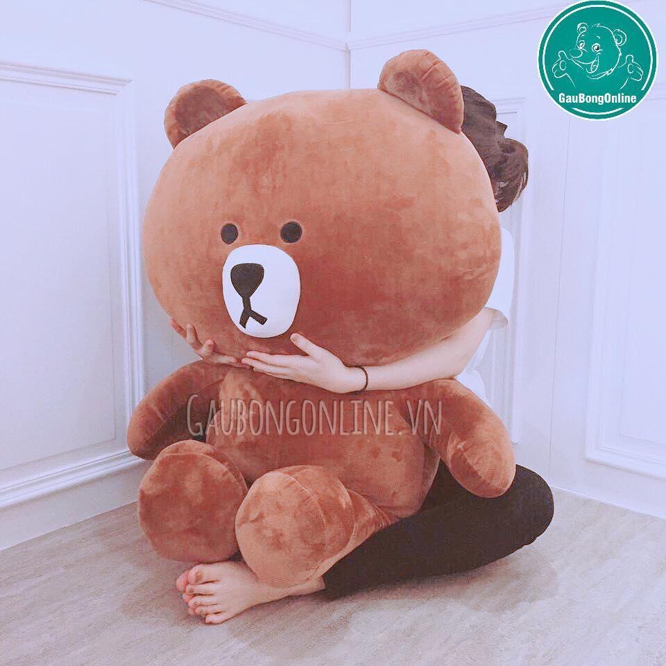 Hình ảnh gấu brown khổ vải 1m
