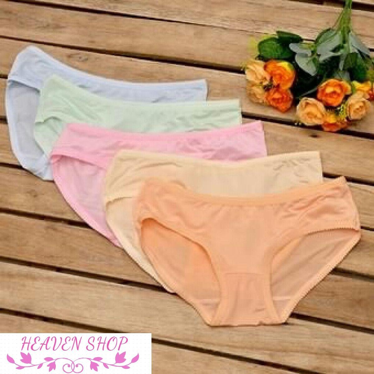 Combo 10 quần lót nữ thun lạnh cotton cao cấp xuất khẩu nhiều màu