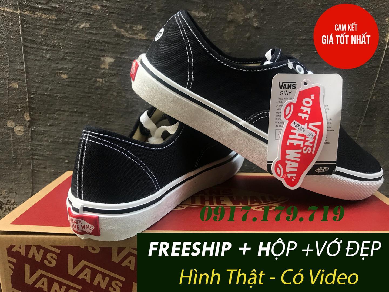 Hình ảnh [FREESHIP+VỚ+HỘP VANS] Giày Vans Classic Đen Đế Trắng Nam Nữ Hàng S.F Bao Đẹp Có Video