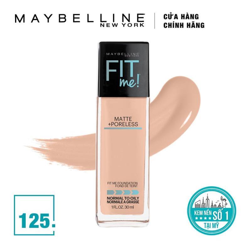 Kem nền mịn lì tiệp màu da Maybelline New York Fit Me! 125 Nude Beige 30ml cao cấp