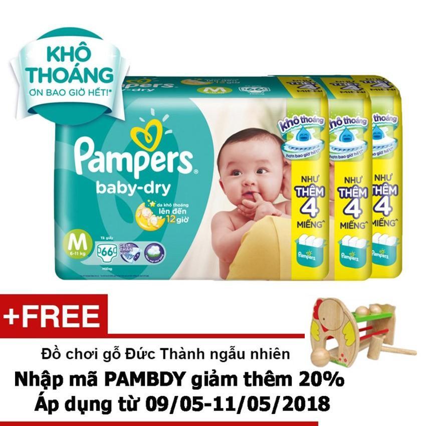 Giá Bán Bộ 4 Goi Ta Dan Pampers Baby Dry Size M 66 Miếng Tặng 1 Đồ Chơi Gỗ Đức Thanh Ngẫu Nhien Trị Gia 180 000 Vnd Trực Tuyến Vietnam