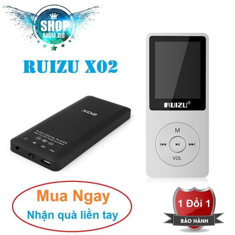 Máy nghe nhạc mp3 Ruizu X02 bộ nhớ trong 8G hỗ trợ thẻ nhớ lên đến 64G kết nối Bluetooth cao cấp