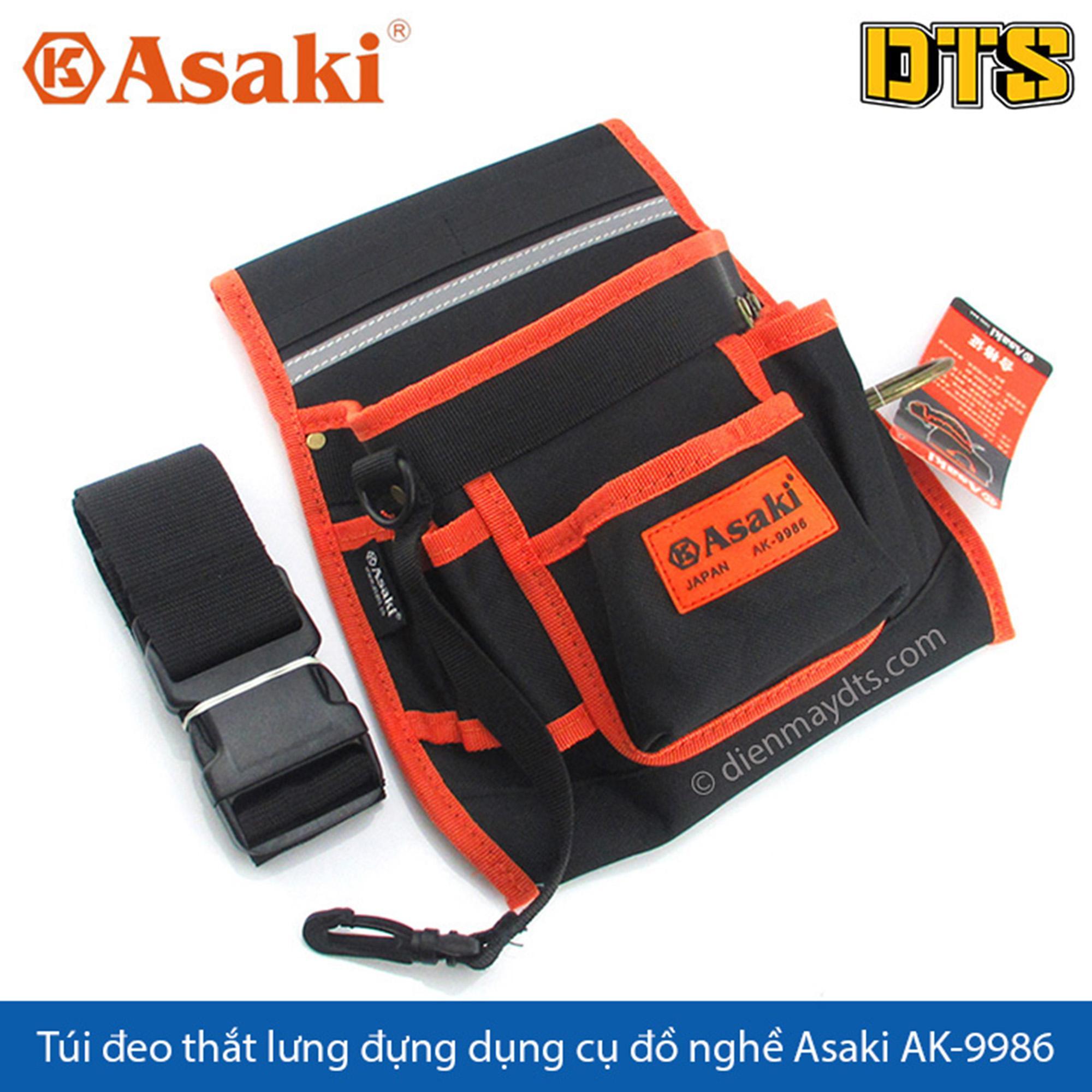 Túi đeo thắt lưng đựng dụng cụ đồ nghề Asaki AK-9986