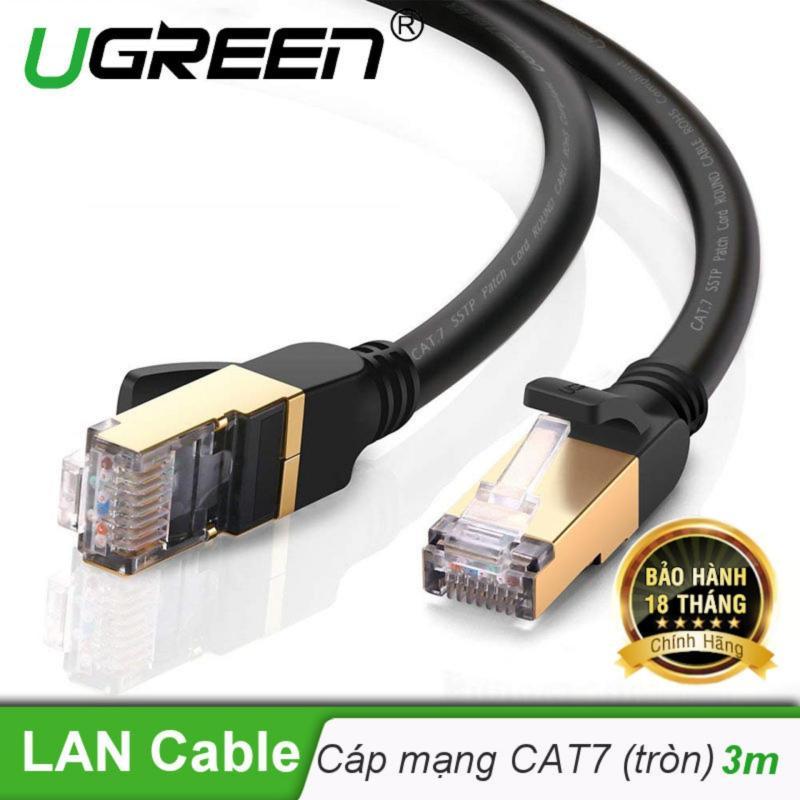 Bảng giá Cáp mạng 2 đầu đúc bọc hợp kim Cat7 STP  dài 3M UGREEN  NW107 11270 - Hãng phân phối chính thức Phong Vũ