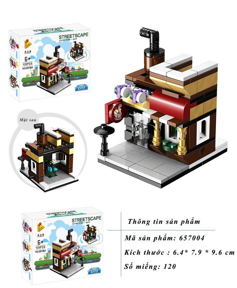 Hình ảnh Đồ chơi lắp ráp trẻ em - Mô hình các cửa hàng tiện ích - STREETSCAPE - LEGO STYLE
