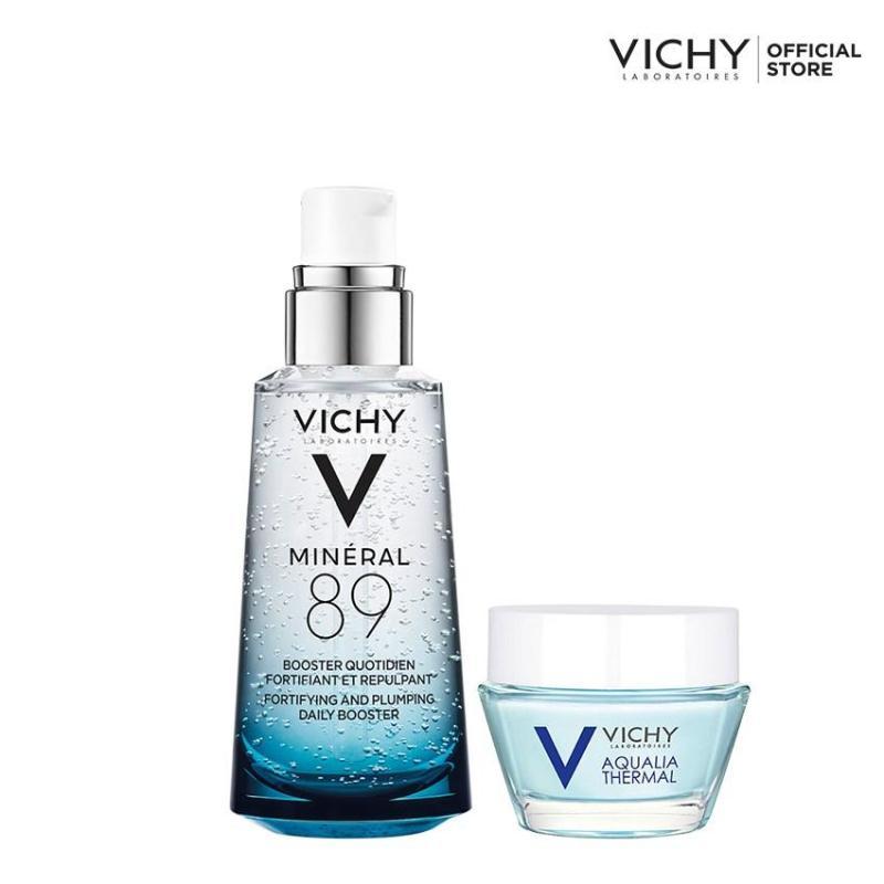 Bộ đôi Dưỡng chất cô đặc giúp phục hồi và bảo vệ da Vichy Minéral 89 50ml và Mặt nạ ngủ Aqualia sleeping mask 15ml nhập khẩu