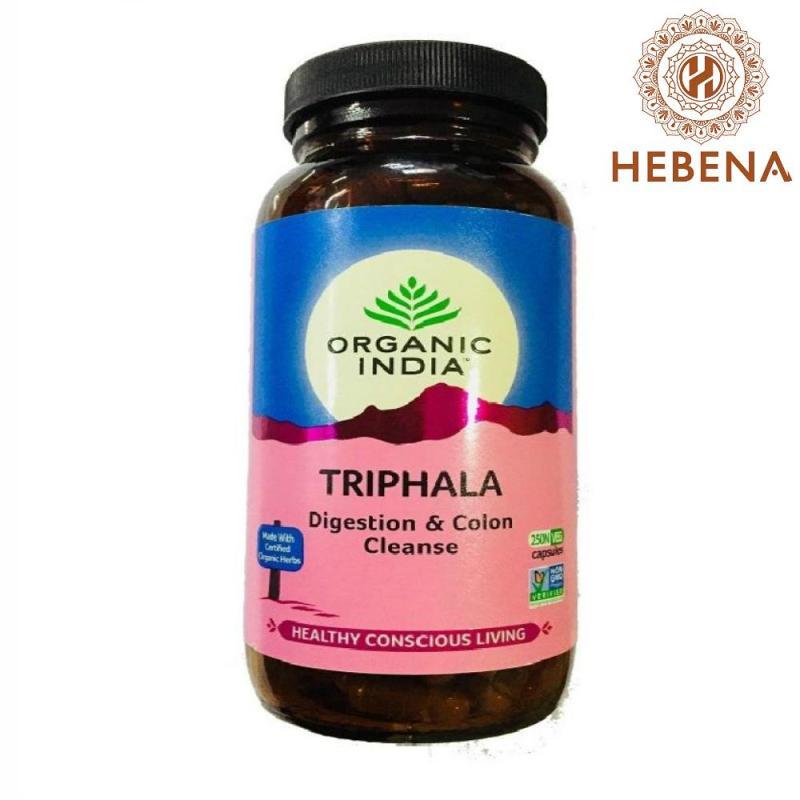 Viên uống thanh lọc ruột Organic India Triphala 250 viên - hebenastore cao cấp