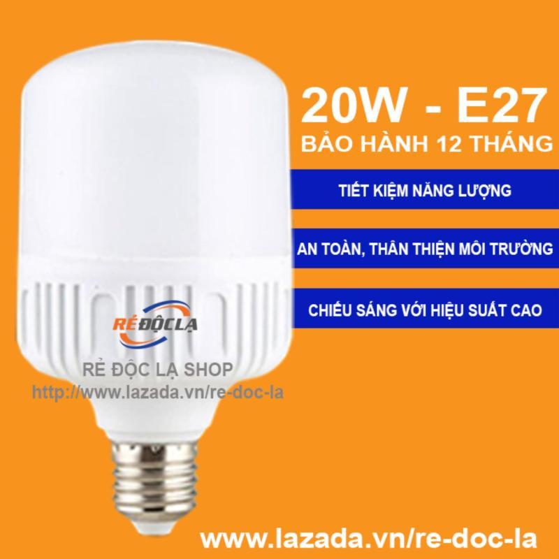 Bóng đèn Led bulb trụ 20W (Ánh SángTrắng) - Loại 1