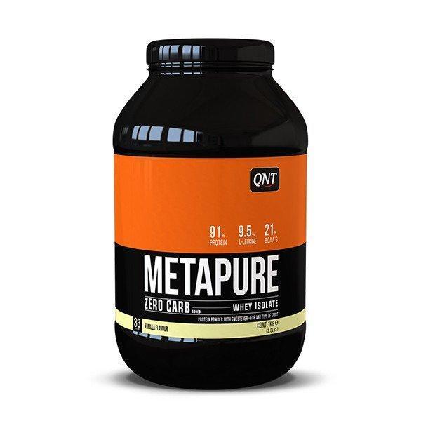 Thực Phẩm Bổ Sung QNT Metapur e Zero Carb Whey Protein Hương Vani 908 gram- HSD: Cuối Tháng 1, 2021