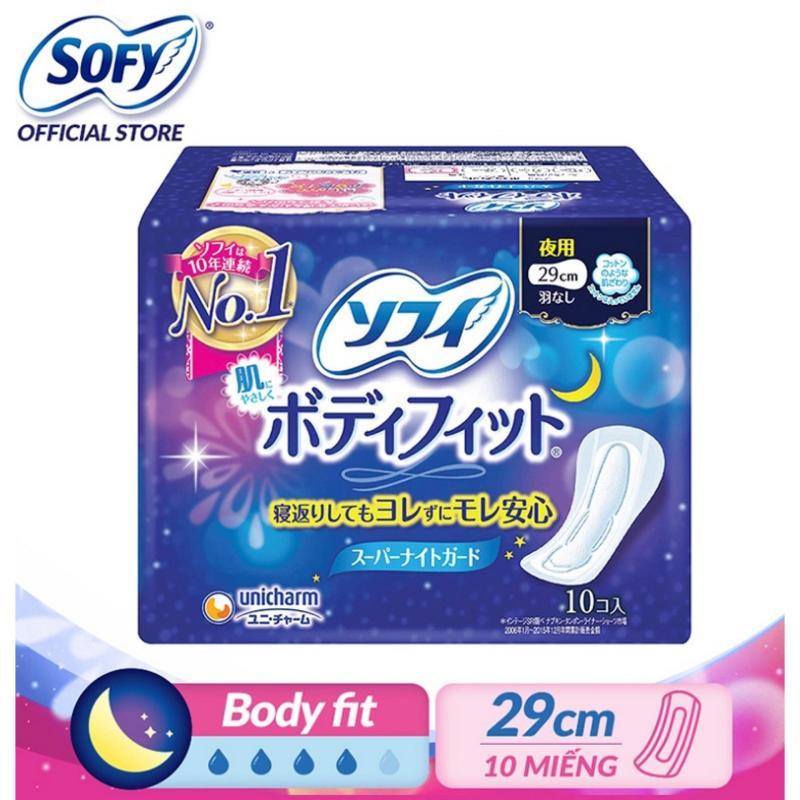 Băng vệ sinh siêu vừa vặn Sofy Body Fit 29cm không cánh gói 10 miếng