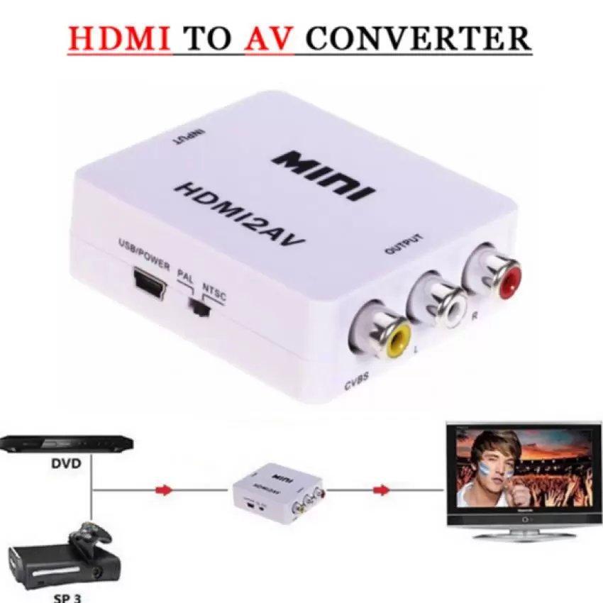 Adapter chuyển đổi HDMI to AV Full HD 1080p trắng Gia Bách