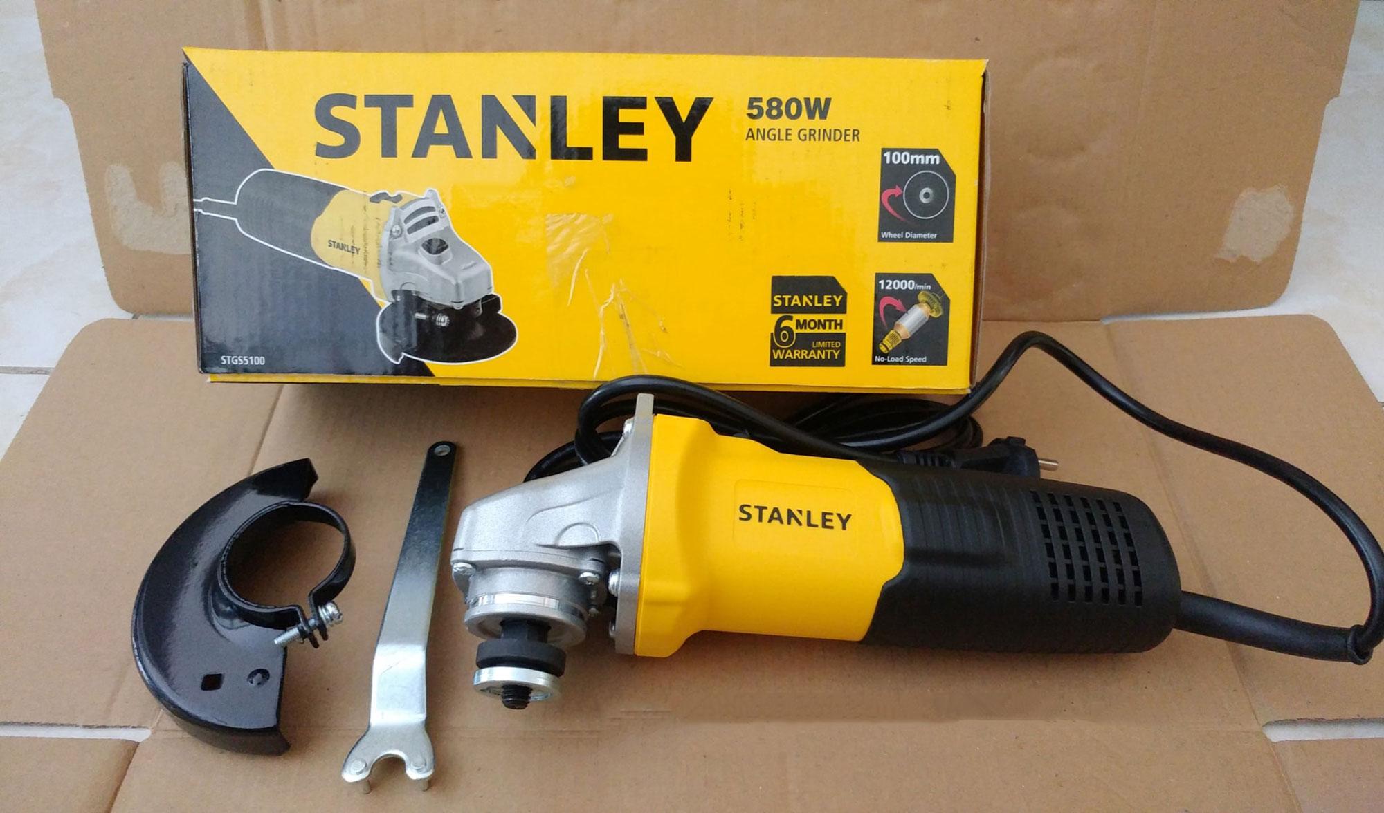 Máy mài góc 580W Stanley STGS5100 (dùng đá mài/cắt 100mm - 4 inch)