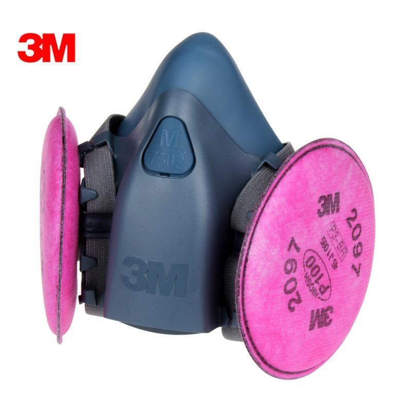 Bộ mặt nạ phòng độc 3M 7502 + Phin lọc 3M 2097 chống Bụi dầu, hơi Gas, hoi hữu cơ