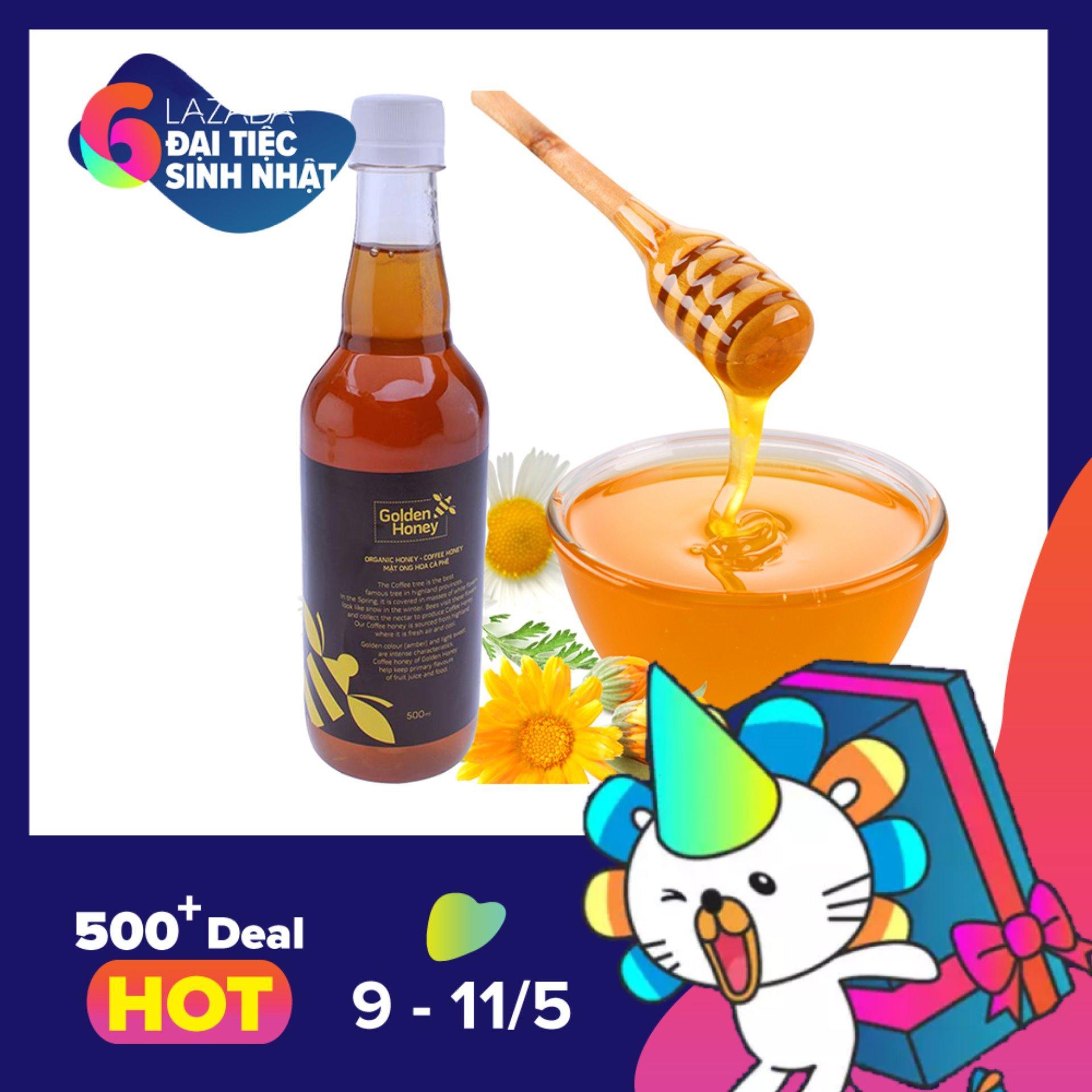 Bán Mua Mật Ong Hoa Ca Phe Golden Honey 500Ml