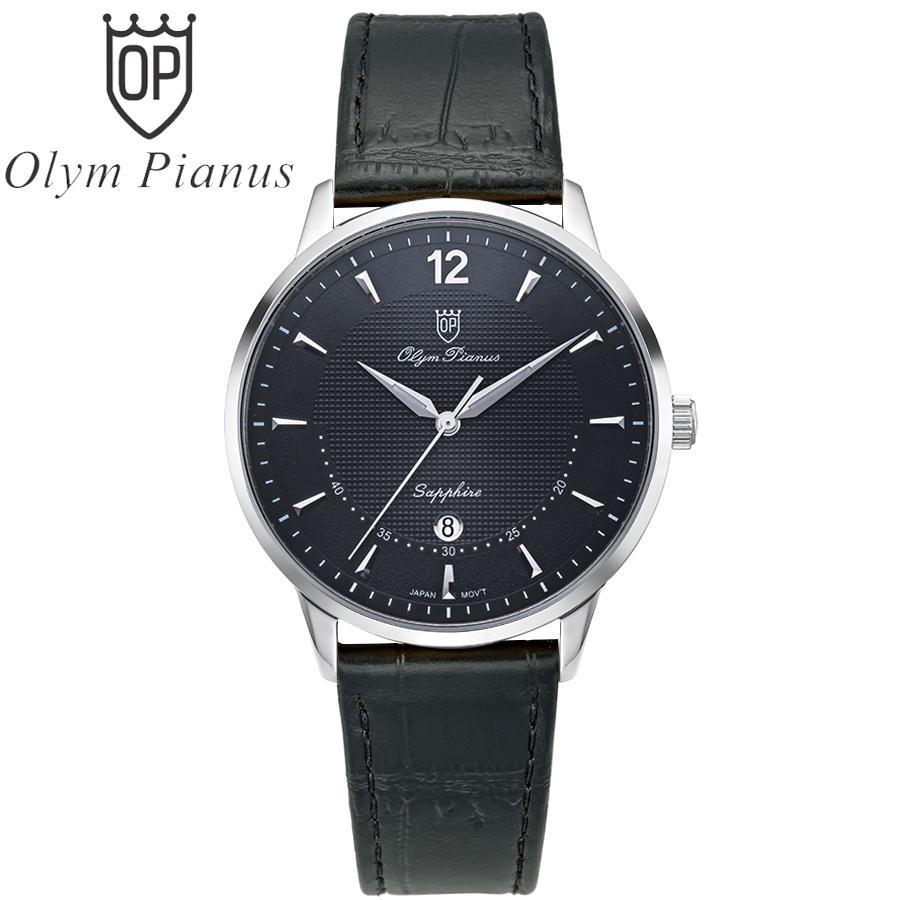 Nơi bán Đồng hồ nam mặt kính sapphire Olym Pianus OP5709MS-GL đen