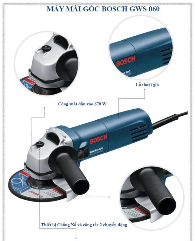 Máy mài, cắt cầm tay Bosch  GWS 6-100 -Professional (MADE IN GERMANY)
