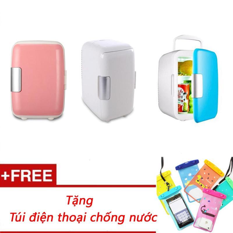 Tủ lạnh mini hộ gia đình và xe hơi 4 Lít (Nhiều màu) + Tặng túi đựng điện thoại chống nước hình thú