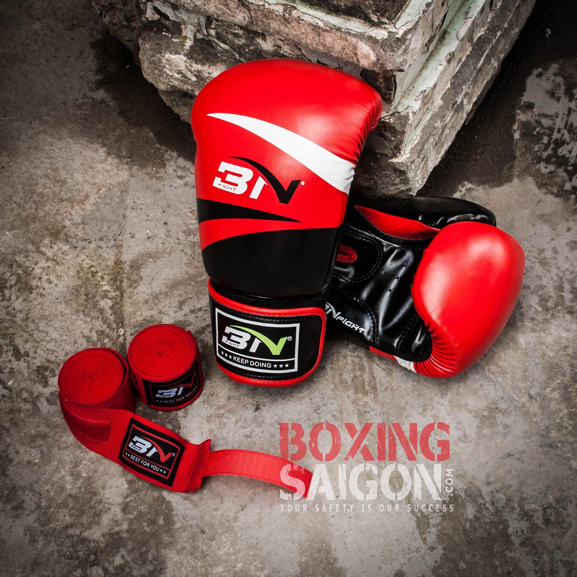 Mã Ưu Đãi Khi Sở Hữu Ngay Combo Găng Tay Boxing + Băng Quấn Tay BN ( Đỏ )