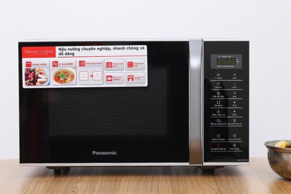 Lò vi sóng có nướng Panasonic NN-GT35HM 23L (Đen bạc) + Tặng kèm vỉ nướng