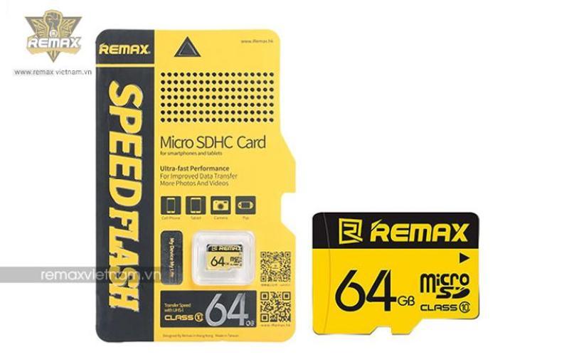 THẺ NHỚ MICRO SD REMAX 64G - CLASS 10  - HÃNG PHÂN PHỐI CHÍNH THỨC