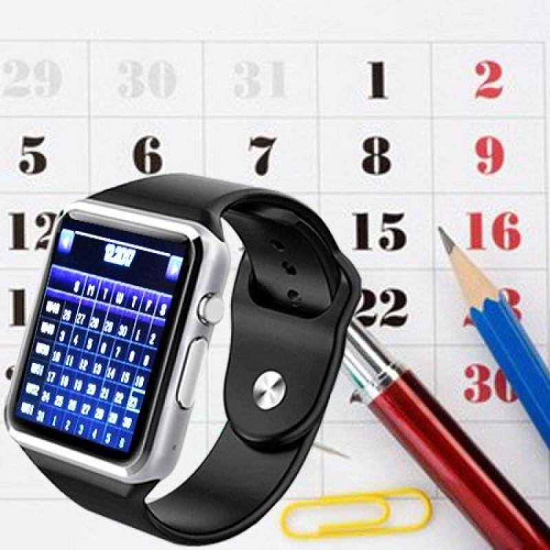 Đồng hồ thông minh  A1 màn hình cảm ứng 1.54 inch TFT LCD nghe, gọi, báo tin nhắn qua bluetooth + sim nghe gọi màu đen