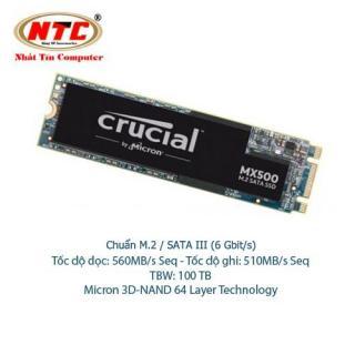 [Nhập ELJUN21 giảm 10% đơn từ 99K max 200K] Ổ Cứng SSD M2 Crucial MX500 dung lượng 250GB - Chuẩn giao tiếp SATA III 6Gbit s (đen) - Nhất Tín Computer thumbnail