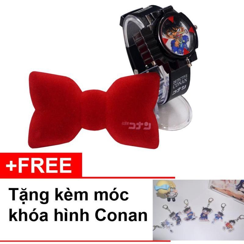 Bộ đồng hồ Conan chiếu đèn Laser và nơ Conan thu âm giọng nói + Tặng kèm móc khóa hình Conan bán chạy