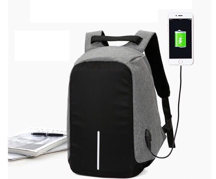 Hình ảnh Balo chống trộm, chống nước Có Cổng Sạc USB vừa laptop 16inch LOẠI DÀY 1120 (xám)