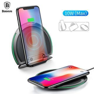 Đế sạc nhanh không dây công xuất 10W thông minh đa năng 3in1 kiêm giá đỡ chuẩn Qi cho iphone X , iphone 8,Samsung S9, Note8 Hãng Baseus (WXZD) - Phân phối bởi Vietstore thumbnail
