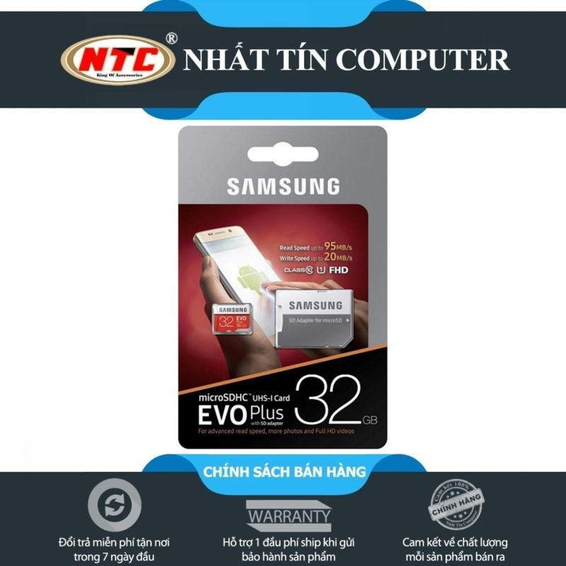 Thẻ nhớ MicroSDHC Samsung EVO Plus 32GB 95MB/s box Anh + tặng kèm adapter