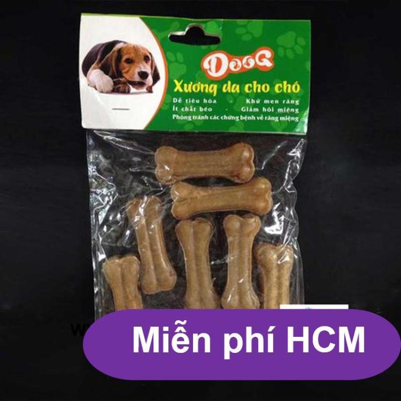 HCM-Bộ 8 Xương ống da bò cho chó gặm - phù hợp với chó  dưới 7kg (hanpet 369) 8cm-HP2211006
