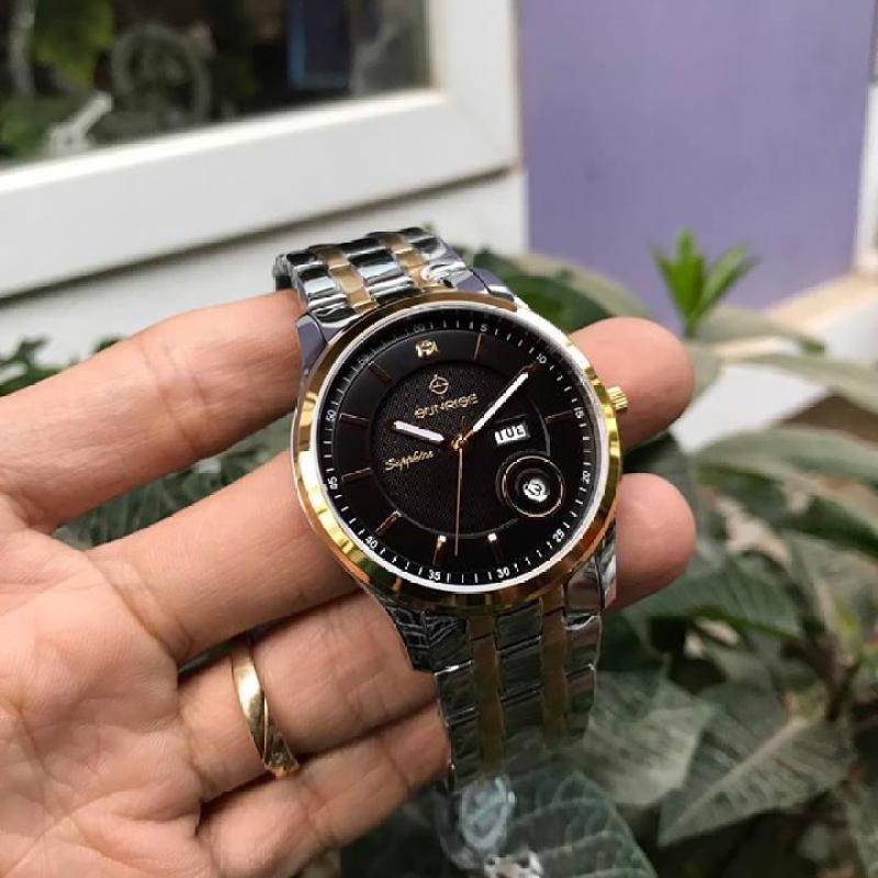 Đồng hồ nam siêu mỏng Sunrise DM782SWA 2 lịch kính Sapphire chống xước Fullbox hãng (Nhiều màu)