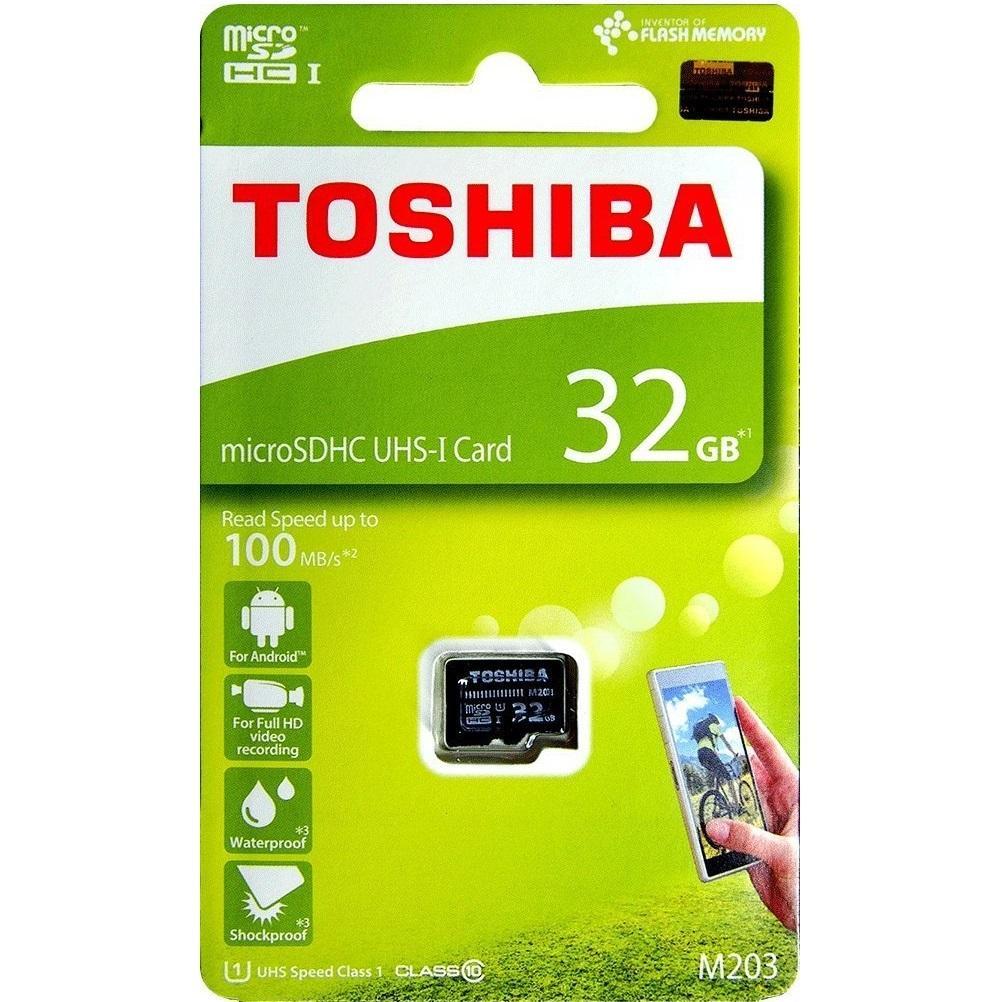 [HCM]Thẻ nhớ MicroSDHC Toshiba M203 UHS-I U1 32GB 100MB/s (Đen) - Phụ Kiện 1986